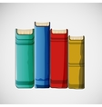 Set of different books stacked design vector image