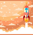 space rocket launch start up concept flat style vector image
