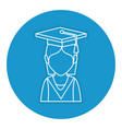 student graduated avatar character vector image