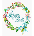 Watercolor floral frame for wedding invitation vector image
