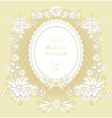 Wedding invitation or congratulation in gold vector image