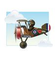 WW1 Aeroplane Toys Vickers vector image