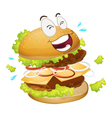 a burger vector image vector image