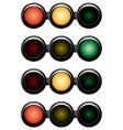 3-sections traffic-light vector image