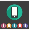 Smartphone tablet flat icon badge vector image