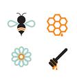 Honeybee And Supplies vector image