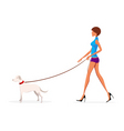 lady with dog vector image vector image