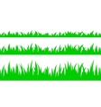 Set of seamless the grass vector image