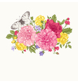 Floral background Card with a bouquet vector image vector image