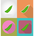vegetables flat icons 15 vector image