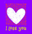bright i love you postcard with hearts and i love vector image
