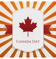 Canada Day national Tag with Ribbon vector image
