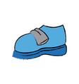 Cartoon blue sneaker sport shoe vector image