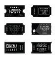 cinema ticket old set in black color vector image