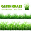 green grass seamless borders vector image