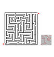 maze and labyrinth game design on white vector image
