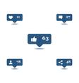 Social media hover vector image