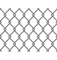 Steel mesh metal fence seamless structure vector image
