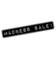Madness Sale rubber stamp vector image