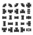 pipe itting set vector image