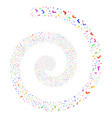 yes fireworks spiral vector image