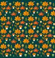 autumn foliage seamless pattern vector image