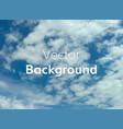 cloud sky background vector image