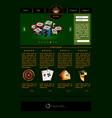 web site template for casino vector image vector image
