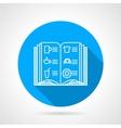 Line icon for menu vector image