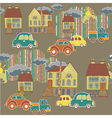 city and town pattern vector image vector image