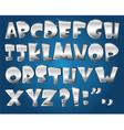 silver alphabet vector image