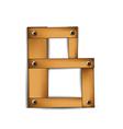 wooden type b vector image vector image