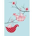 bird toy hanging vector image vector image