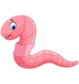cute worm cartoon for you design vector image vector image