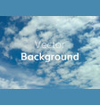 cloud sky background vector image