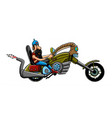 colored motorcycle and freedom image vector image