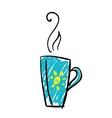 Doodle cup of tea vector image