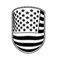 emblem with flag united states of america black vector image