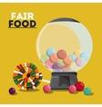 fair food snack carnival design vector image