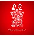 Gift box made of small hearts vector image