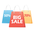 handbags sale signs vector image