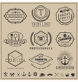 Linear thin line badge logo sets for Product labe vector image