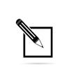 pencil black vector image
