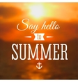 Summer background with sea sunset vector image