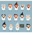 Set of scientists2 vector image