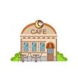 Cafe Commercial Building Facade Design vector image