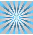 Blue rays gray poster star burst vector image