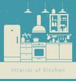 kitchen interior vector image