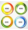 Abstract blurred circle banners  templates vector image