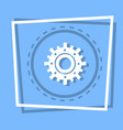 cog wheel icon gear settings web button vector image